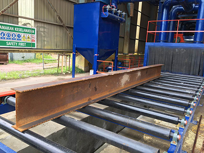 Installation of Roller Conveyor Shot Blasting Machine