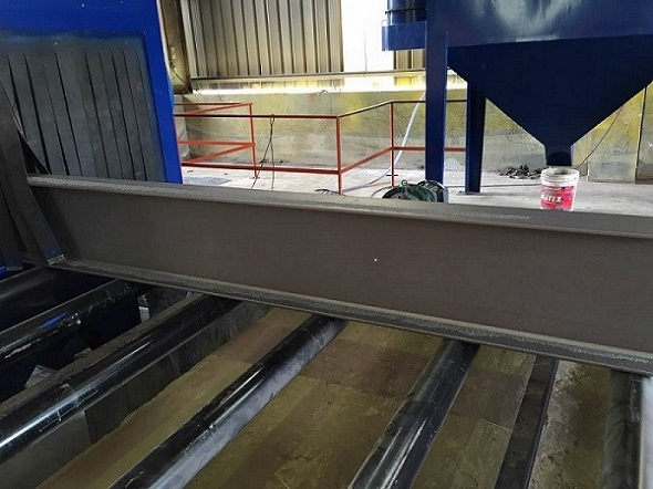roller conveyor shot blasting machines