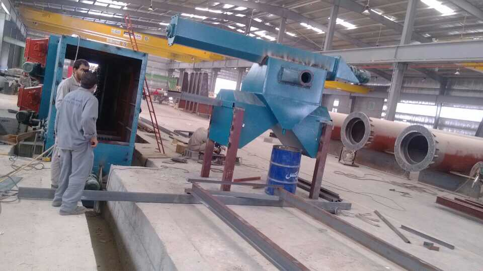 Installation of Steel Structure Shot Blasting Machine