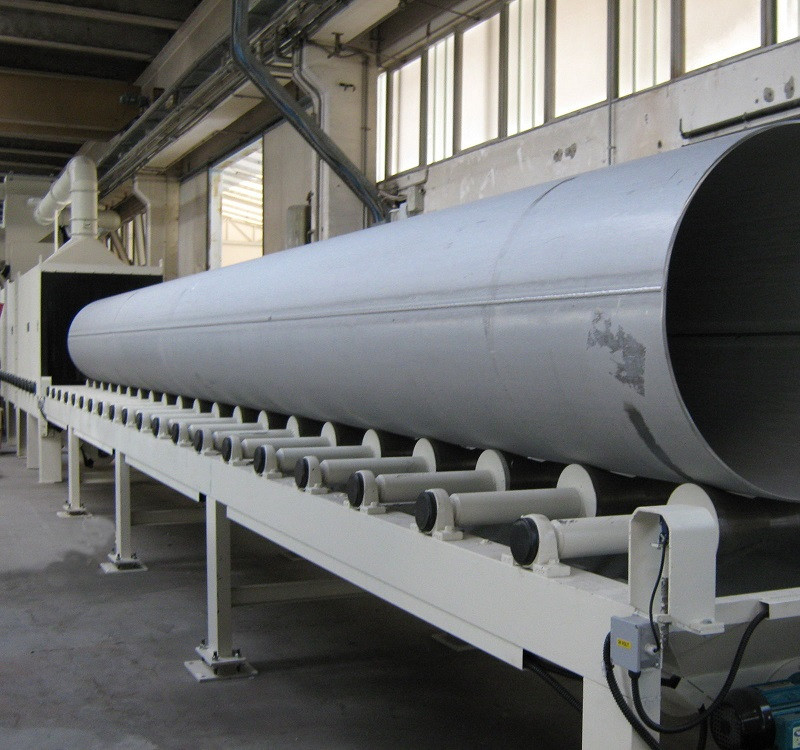 China OEM Roller Conveyor Shot Blasting Machinery -