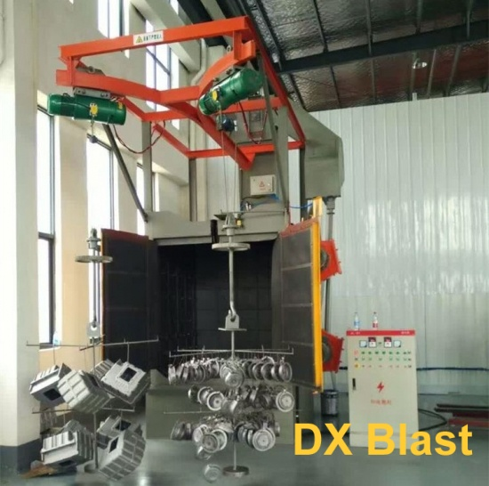 Installation of Hanger Shot Blasting Machine