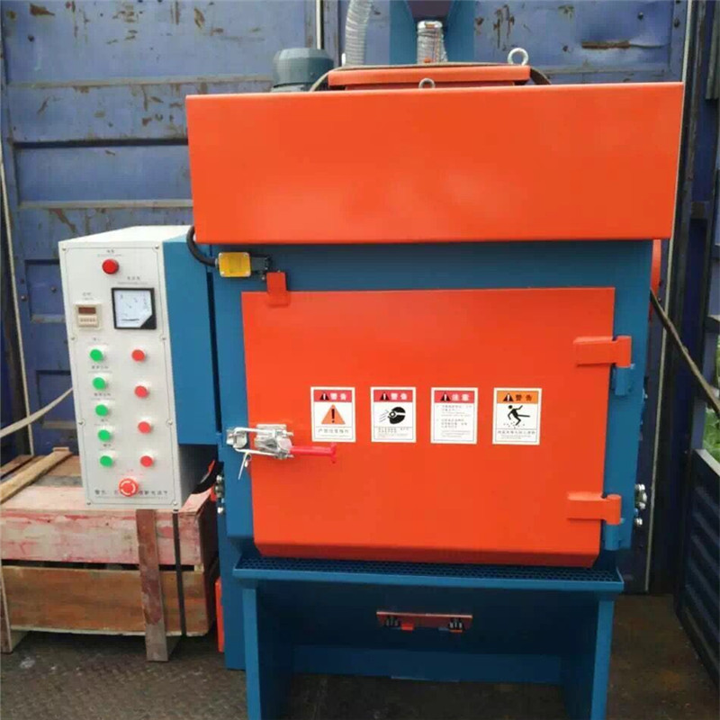 High Performance Q3210 Tumble Belt Shot Peening Equipment / Sand Blasting Machine Used For Surface Cleaning Removing Rust And Polishing