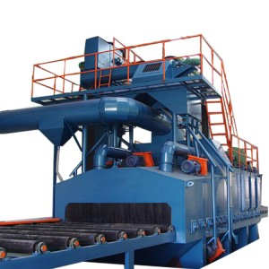 Rebar shot blasting machine