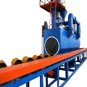High definition External Steel Pipe Shot Blasting Machine -