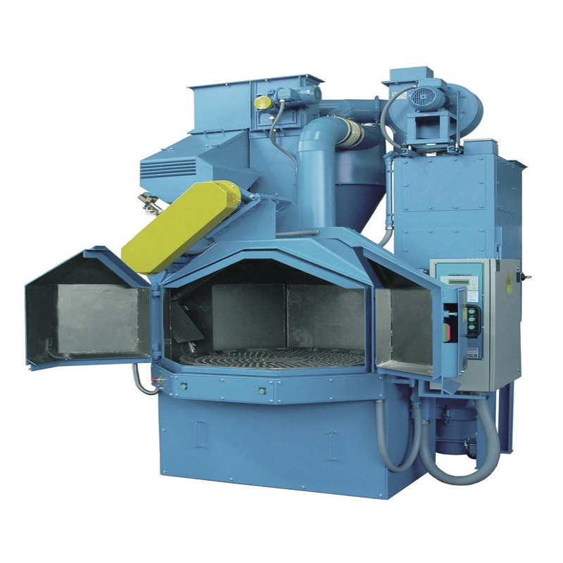 2019 China New Design Turntable Rotary Table Steel Shot Blasting Machine